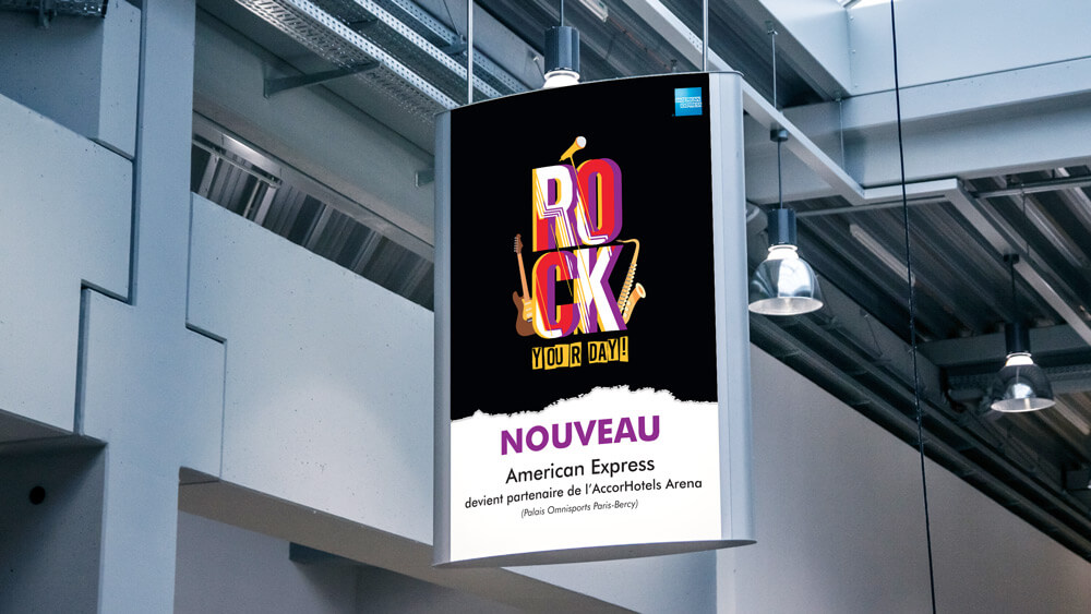Rock your Day - American Express concept de communicationentité
